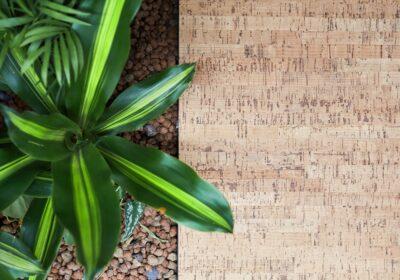 pavimento sopraelevato in sughero Cork con pianta