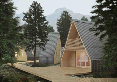 Una casa realizzata secondo bioedilizia