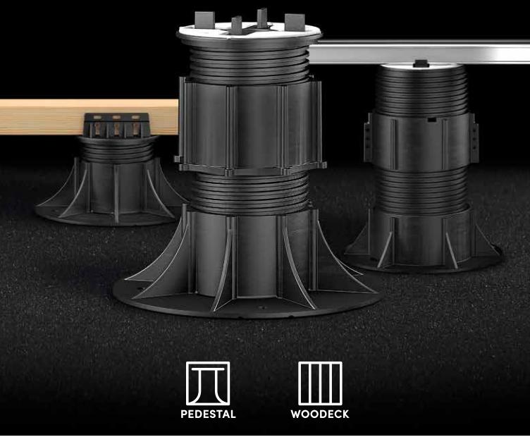Sistemi per pavimentazioni sopraelevate Pedestal e Woodeck