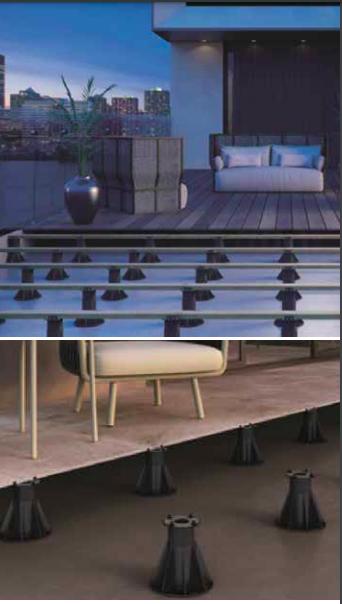 Sistemi per pavimentazioni sopraelevate PP Level Duo di Profilpas