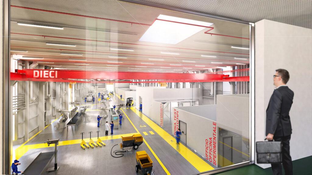 Concept dell'area impianti e officina del ferrero technical center