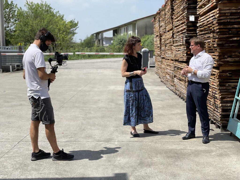 Le riprese di Interior Doc con Carla Palù