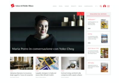 Homepage piattaforma del salone del mobile